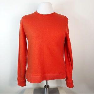 Tory Burch Sport Orange Crew Neck Sweatshirt